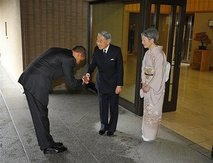 Outrage in Washington over Obama's Japan bow